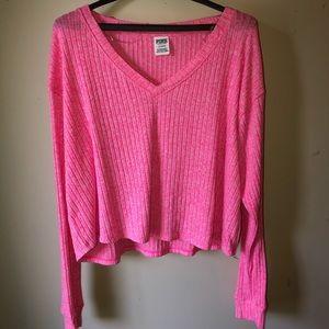 PINK long sleeve hot pink shirt